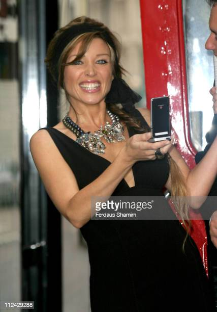 Dannii Minogue during Sky Mobile TV on Vodafone Live with 3G at Gloucester Road in London Great Britain