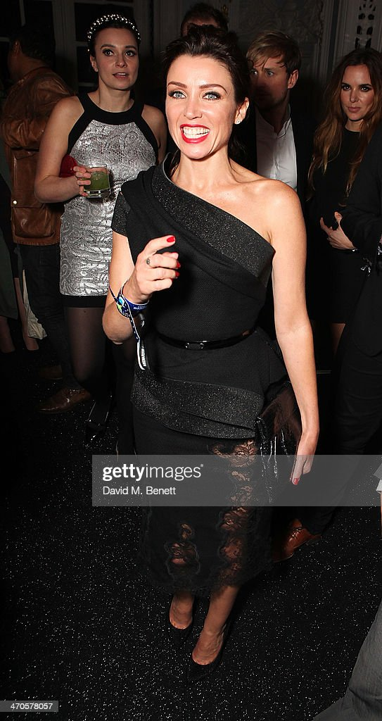 Dannii Minogue is seen at Warner & Belvedere Post BRIT Awards party at The Savoy Hotel on February 19, 2014 in London, England.