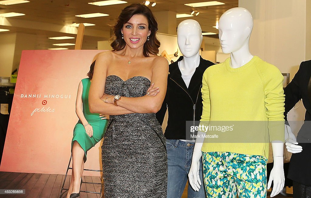 Dannii Minogue poses at the launch of her Petites range at Target, Bondi Junction on August 7, 2014 in Sydney, Australia.