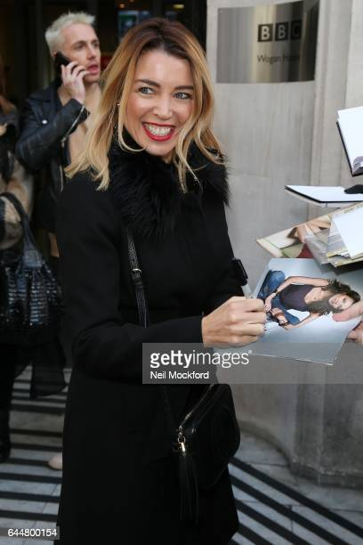 Dannii Minogue seen at BBC Radio 2 on February 24 2017 in London England
