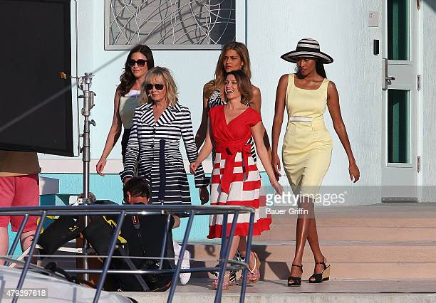 Dannii Minogue Twiggy Lisa Snowdon VV Brown and Ana Beatriz Barros are seen during Marks and Spencer photoshoot on January 31 2011 in Miami Florida