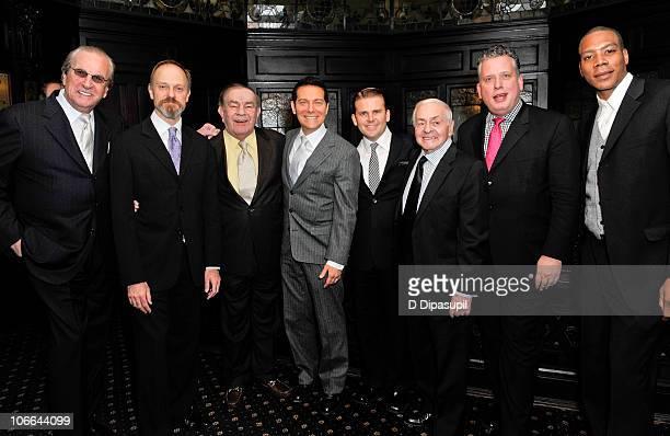 """Danny Aiello, David Hyde Pierce, Freddie Roman, Michael Feinstein, Robert Creighton, Irv Welzer, Billy Stritch, and Reese Waters attend """"Feinstein at..."""
