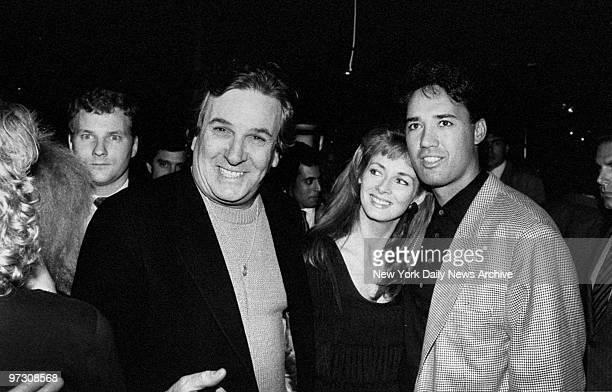 Danny Aiello gets together with Ron Darling and his wife Toni at a party