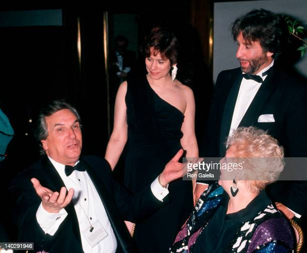 Danny Aiello, Lynne Silver, Ron Silver and Sandy Cohen at the Night of 100 Stars, New York Hilton Hotel, New York City.