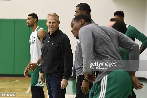 Danny Ainge of the Boston Celtics during practice on October 11 2016 at the Boston Celtics Training facility in Waltham Massachusetts NOTE TO USER...