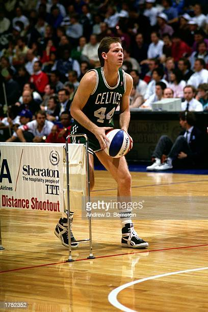 Danny Ainge of the Boston Celtics during the 1987 All-Star Weekend NBA Three Point Shoot Out on February 7, 1987 in Seattle, Washington. NOTE TO...