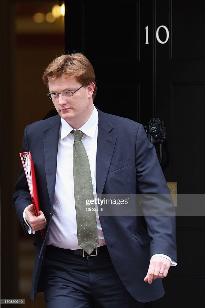 Danny Alexander, the Chief Secretary to the Treasury, leaves Number 10 Downing Street on June 19, 2013 in London, England. Chancellor of the Exchequer, George Osborne, and Governor of the Bank of England, Mervyn King, will address the 'Lord Mayor's Dinner to the Bankers and Merchants of the City of London' at the Mansion House later this evening.
