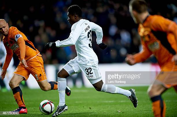 Danny Amankwaa of FC Copenhagen controls the ball during the Danish Alka Superliga match between FC Copenhagen and Randers FC at Telia Parken Stadium...