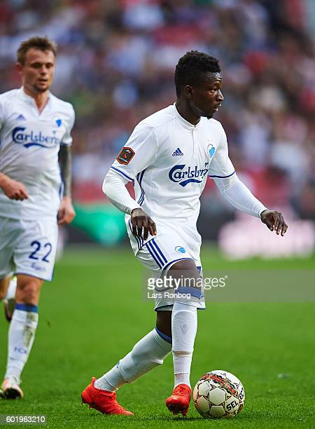Danny Amankwaa of FC Copenhagen controls the ball during the Danish Alka Superliga match between FC Copenhagen and OB Odense at Telia Parken Stadium...
