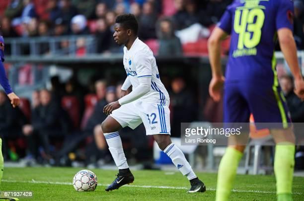 Danny Amankwaa of FC Copenhagen controls the ball during the Danish Alka Superliga match between FC Copenhagen and FC Midtjylland at Telia Parken...