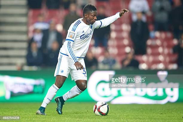 Danny Amankwaa of FC Copenhagen in action during the Danish Alka Superliga match between FC Copenhagen and Hobo IK at Telia Parken Stadium on October...