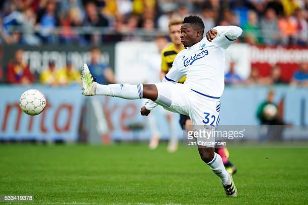 Danny Amankwaa of FC Copenhagen in action during the Danish Alka Superliga match between Hobro IK and FC Copenhagen at DS Arena on May 22 2016 in...