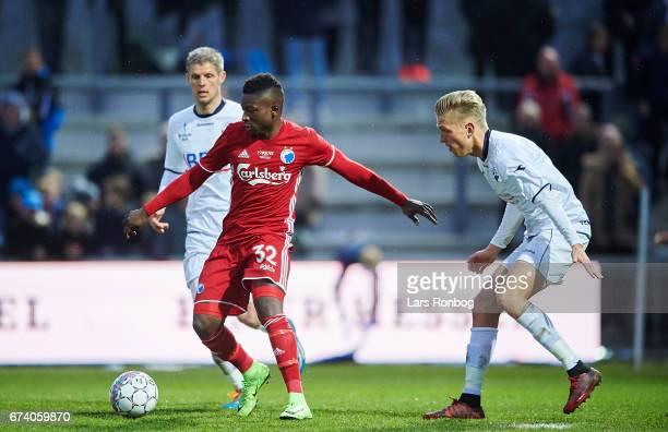 Danny Amankwaa of FC Copenhagen in action during the Danish cup DBU Pokalen semfinal match between Vendsyssel FF and FC Copenhagen at Bredband Nord...