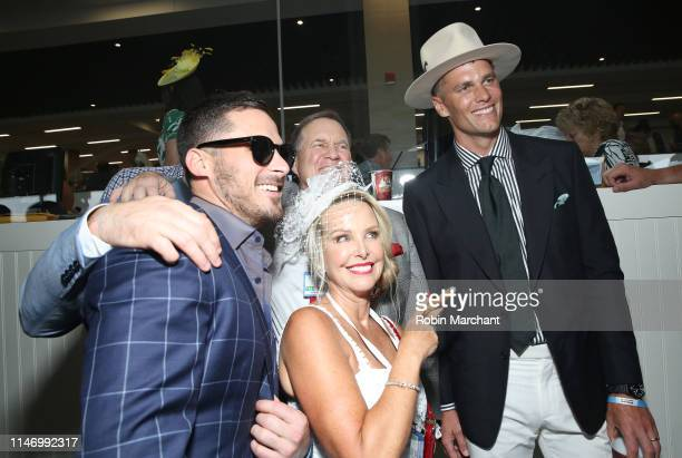 Danny Amendola Linda Holliday Bill Belichick and Tom Brady attend the 145th Kentucky Derby at Churchill Downs on May 04 2019 in Louisville Kentucky