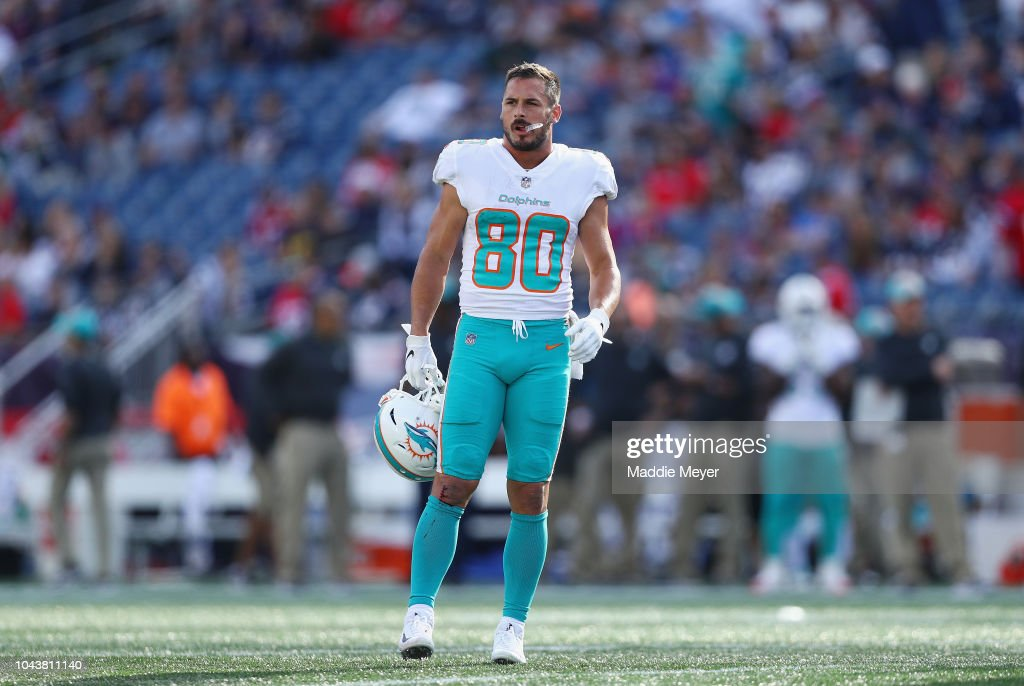 outlet store a52e5 458f7 Danny Amendola of the Miami Dolphins looks on during the ...