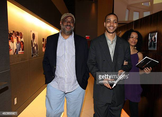 Danny and son Jamel Simmons during Rush East New York Celebration Hosted By Russell Simmons at Time Warner Center in New York City New York United...