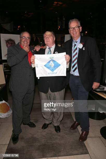 Danny Baker and photographer David Cannon join fellow guests at Guy's Head And Neck Charity Dinner at M Threadneedle Street on September 20, 2018 in...