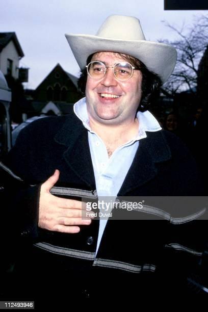 Danny Baker during Danny Baker arrives at the TFI Friday Studios December 1 1998 at TFI Friday Studios in London United Kingdom