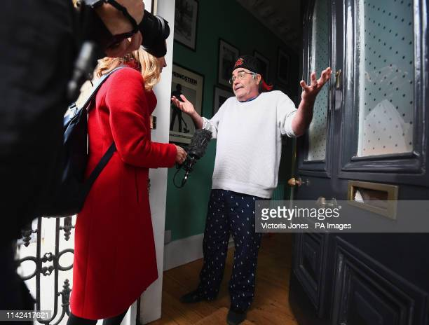 Danny Baker speaking at his London home after he was fired by BBC Radio 5 Live for tweeting a joke about the Duke and Duchess of SussexOtildes son...
