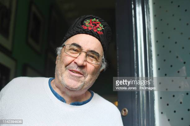 Danny Baker speaking outside his London home after he was fired by BBC Radio 5 Live for tweeting a joke about the Duke and Duchess of Sussexs son...