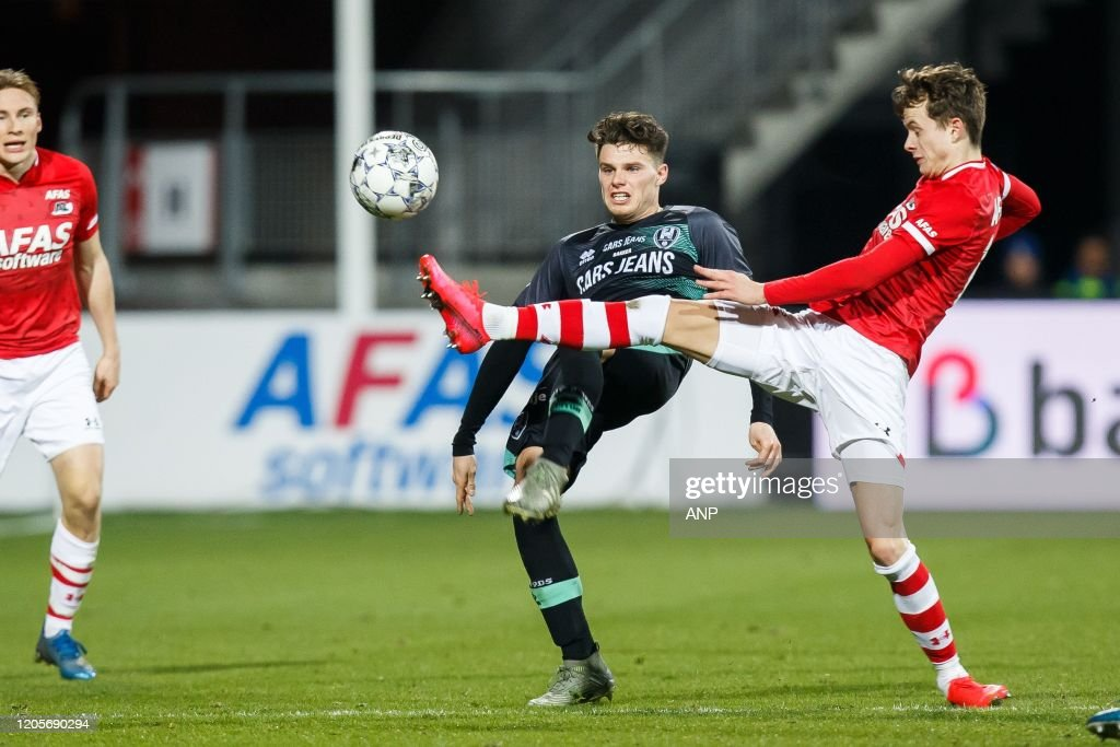 Danny Bakker Of Ado Den Haag Hakon Evjen Of Az During The Dutch News Photo Getty Images