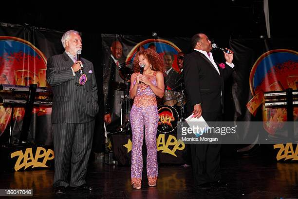 Danny Bankwell Donna RichardsonJoyner and Roland Martin speak at the O'Jays 8th Annual Celebrity Scholarship Weekend Masquerade Ball at TW Theater on...