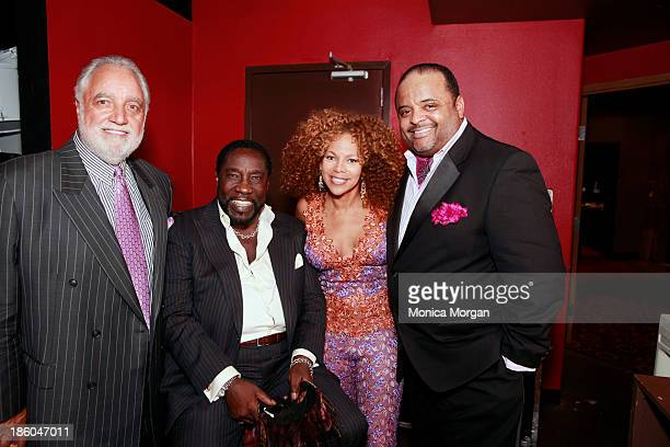 Danny Bankwell Eddie Levert Donna RichardsonJoyner and Roland Martin attend the O'Jays 8th Annual Celebrity Scholarship Weekend Masquerade Ball at TW...