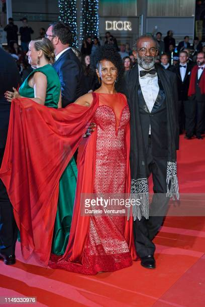"Danny Barbosa and guest attend the screening of ""Bacurau"" during the 72nd annual Cannes Film Festival on May 15, 2019 in Cannes, France."
