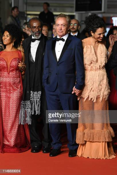 "Danny Barbosa, Wilson Rabelo, Udo Kier and Barbara Colen attend the screening of ""Bacurau"" during the 72nd annual Cannes Film Festival on May 15,..."