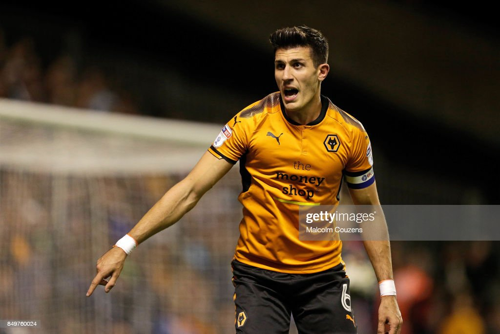 Danny Bath of Wolverhampton Wanderers during the Carabao Cup tie between Wolverhampton Wanderers and Bristol Rovers at Molineux on September 19, 2017 in Wolverhampton, England.