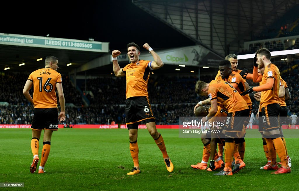 Danny Batth Of Wolverhampton Wanderers Celebrates After