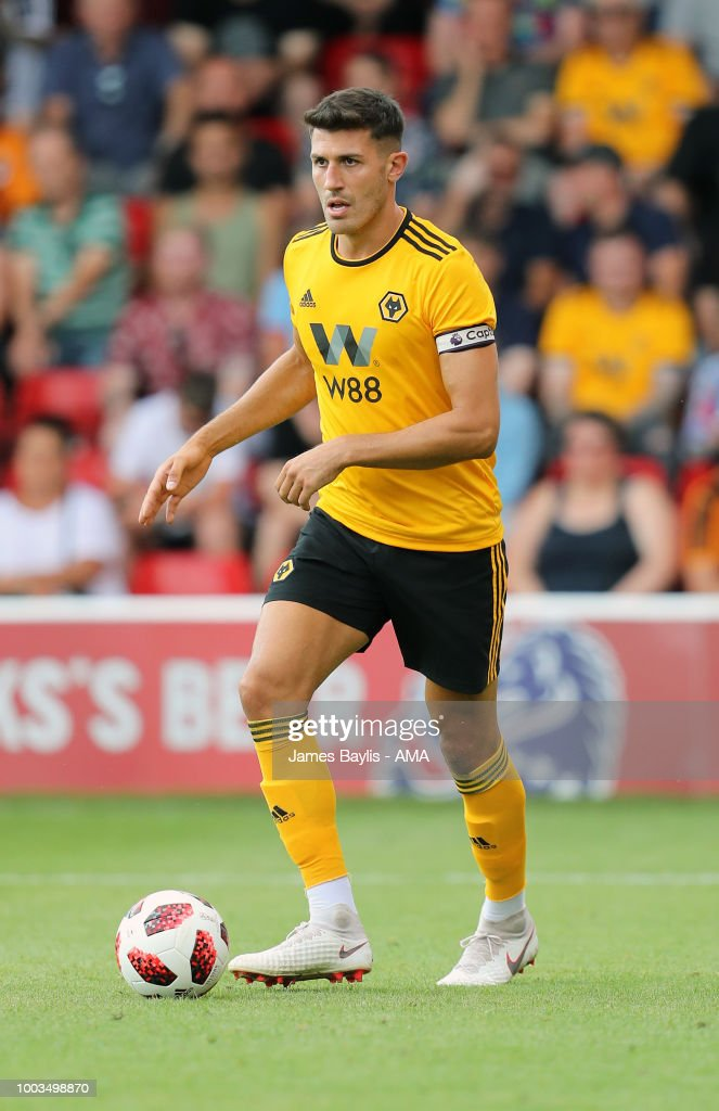 Danny Batth of Wolverhampton Wanderers during the Pre Season Friendly between Wolverhampton Wanderers and Ajax at Banks' Stadium on July 19, 2018 in Walsall, England.