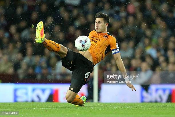 Danny Batth of Wolverhampton Wanderers in action during the Sky Bet Championship match between Aston Villa and Wolverhampton Wanderers on October 15...