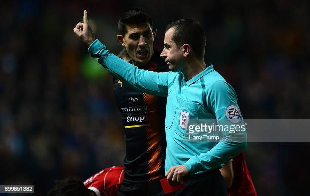 Danny Batth of Wolverhampton Wanderers is shown a red card during the Sky Bet Championship match between Bristol City and Wolverhampton Wanderers at...