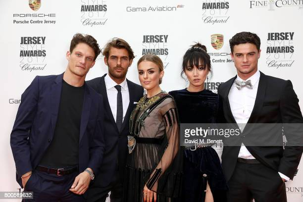Danny Beauchamp Jacey Elthalion Tallia Storm Betty Bachz and Christian Arno attend the Jersey Style Awards 2017 in association with Chopard at The...
