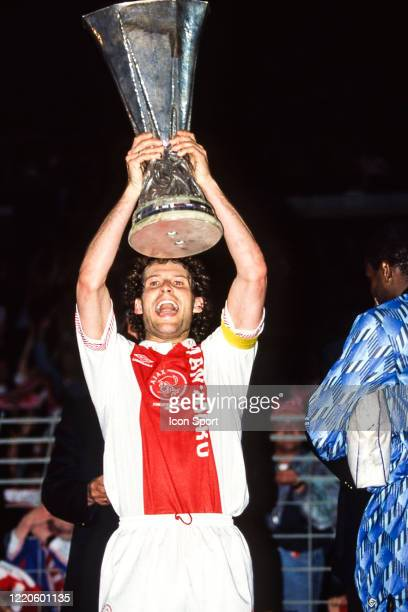 Danny BLIND of Ajax Amsterdam celebrate the victory with the trophy during the Second Leg UEFA Final Cup match between Ajax Amsterdam and Torino at...