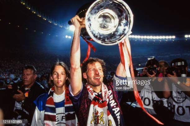 Danny BLIND of Ajax celebrate the victory with the trophy during the Champions League Final match between Ajax Amsterdam and Milan AC at...