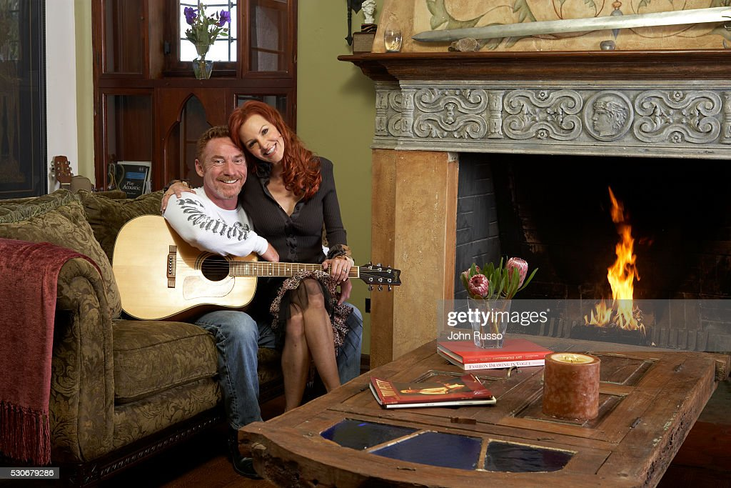 Danny Bonaduce with wife Gretchen at Home, 2007 : News Photo