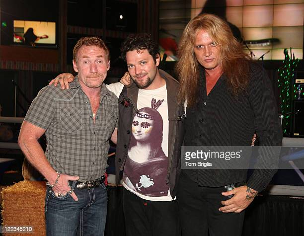 Danny Bonaduce Bam Margera and Sebastian Bach attend the Battle of the Room Trashing Bands at Bally's Atlantic City on June 25 2010 in Atlantic City...