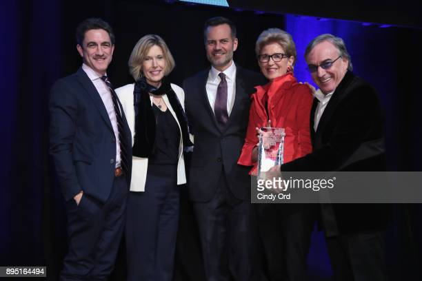 Danny Boockvar Dawn Hudson Fred Dixon Emily Rafferty and Daniel Lamarre pose onstage at NYC Company Foundation Visionaries Voices Gala 2017 on...