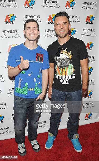 Danny Boselovic and Nick Ditri of Disco Fries attend 1035 KTU's KTUphoria 2014 presented by Burlington at IZOD Center on June 29 2014 in East...