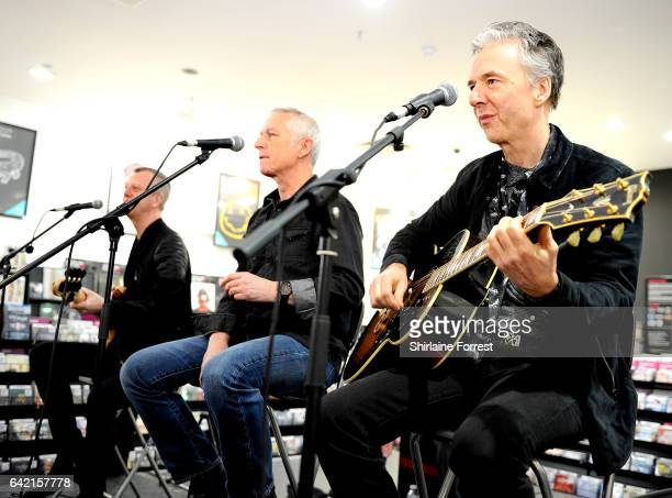Danny Bowes, Ben Matthews and Chris Childs of Thunder perform live and sign copies of their new album 'Rip it Up' at HMV Manchester on February 16,...