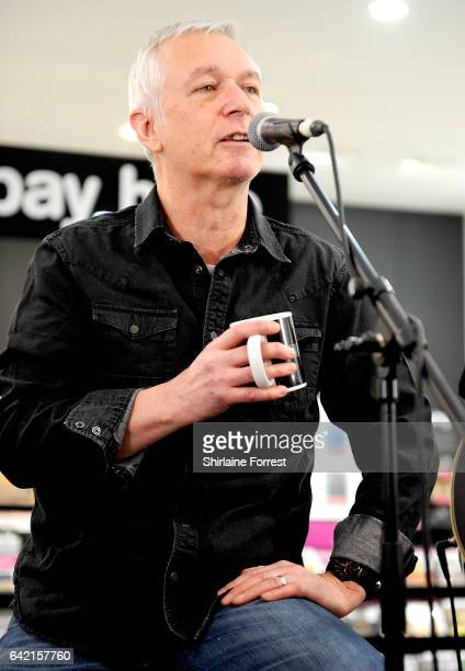 Danny Bowes of Thunder performs live and signs copies of their new album 'Rip it Up' at HMV Manchester on February 16, 2017 in Manchester, United...