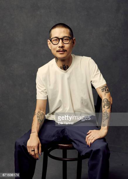 Danny Bowien from 'WASTED The Story of Food Waste' poses at the 2017 Tribeca Film Festival portrait studio on April 21 2017 in New York City