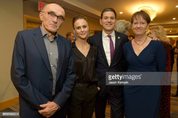 Danny Boyle Amber Sainsbury David Miliband and Louise Shackelton attend The 2017 Rescue Dinner hosted by IRC at New York Hilton Midtown on November 2...