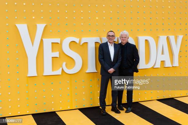 Danny Boyle and Richard Curtis attend the UK film premiere of 'Yesterday' at the Odeon Luxe Leicester Square on 18 June 2019 in London England
