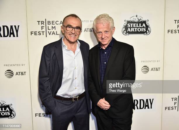 Danny Boyle and Richard Curtis attend Yesterday Closing Night Gala Film 2019 Tribeca Film Festival at BMCC Tribeca PAC on May 04 2019 in New York City