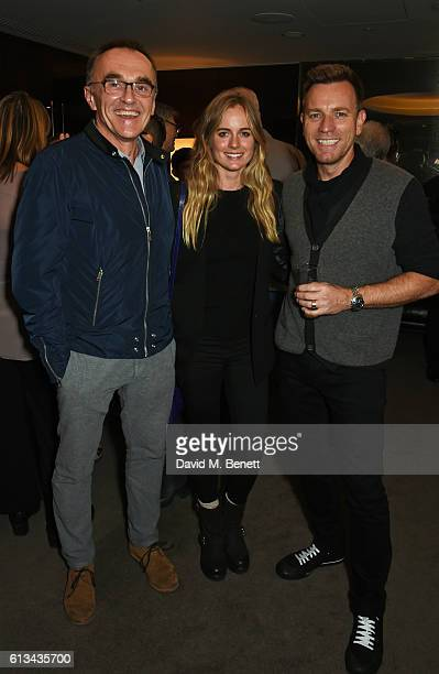 Danny Boyle Cressida Bonas and Ewan McGregor attend the exclusive prerelease screening of Ewan McGregor's directorial debut American Pastoral at The...