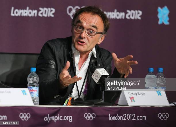 Danny Boyle Director of the London 2012 Opening Ceremony attends a Press Conference ahead of the London 2012 Olympic Games at the Main Press Centre...
