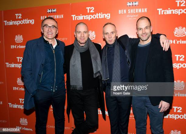 Danny Boyle Ewan McGregor Ewen Bremner and Jonny Lee Miller attend a screening of 'T2 Trainspotting' hosted by TriStar Pictures and The Cinema...
